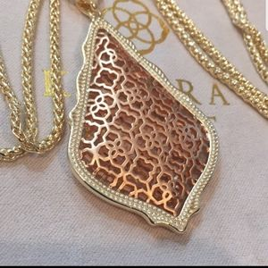 Kendra Scott, Rose Gold Mixed, Aiden Necklace